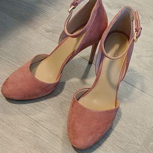 Michael Kors pink velvet heels